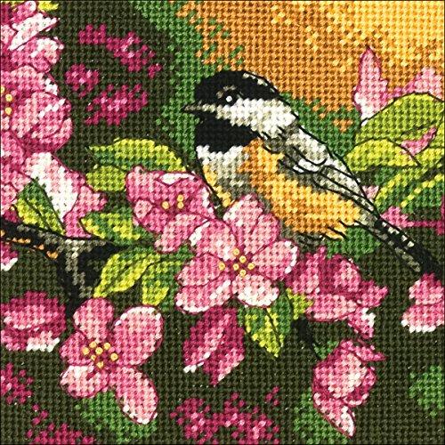 Mini Needlepoint - Mini Needlepoint: Chickadee In Pink