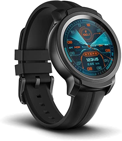 Ticwatch E2, Waterproof Smartwatch with 24 Hours Heart Rate Monitor, Wear OS by Google, Compatible with Android and iOS