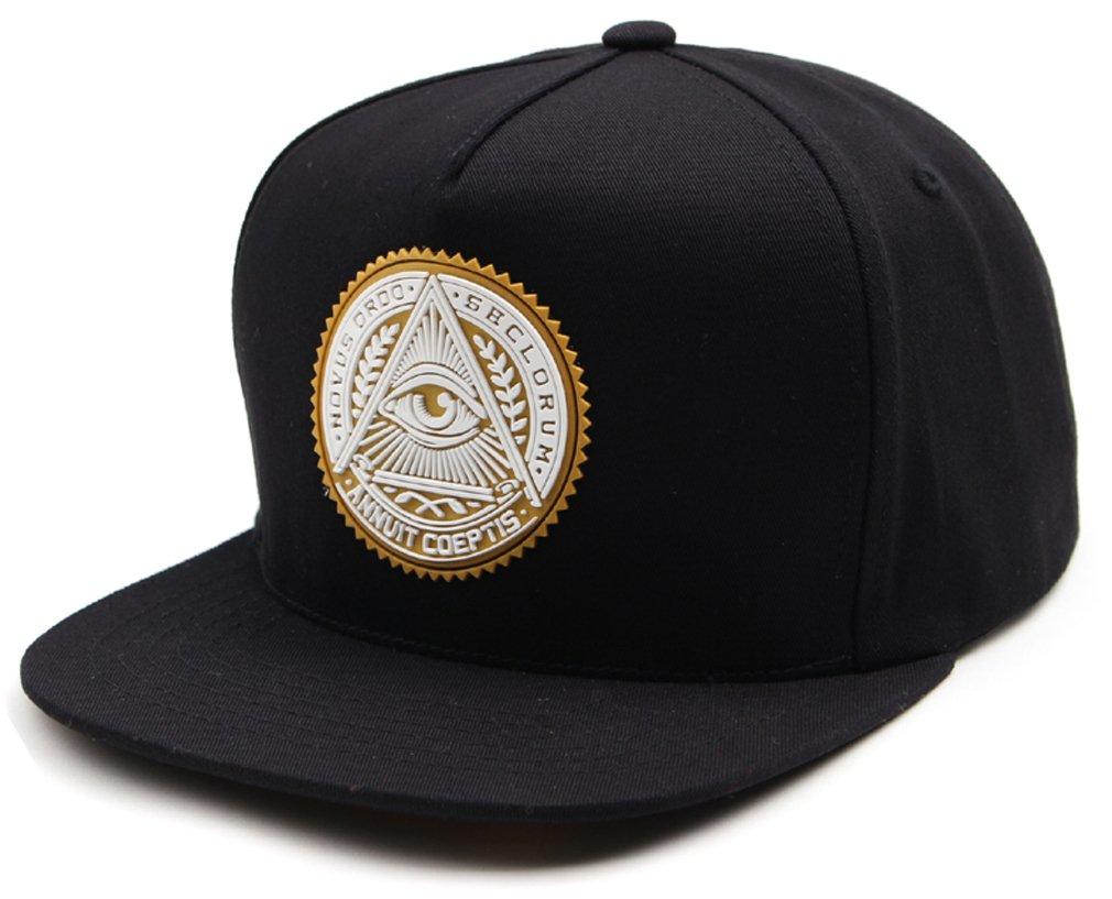 sujii ILLUMINATI Archetype Hip Hop Boys Snapback Hat Trucker Baseball Cap/Black & Whte