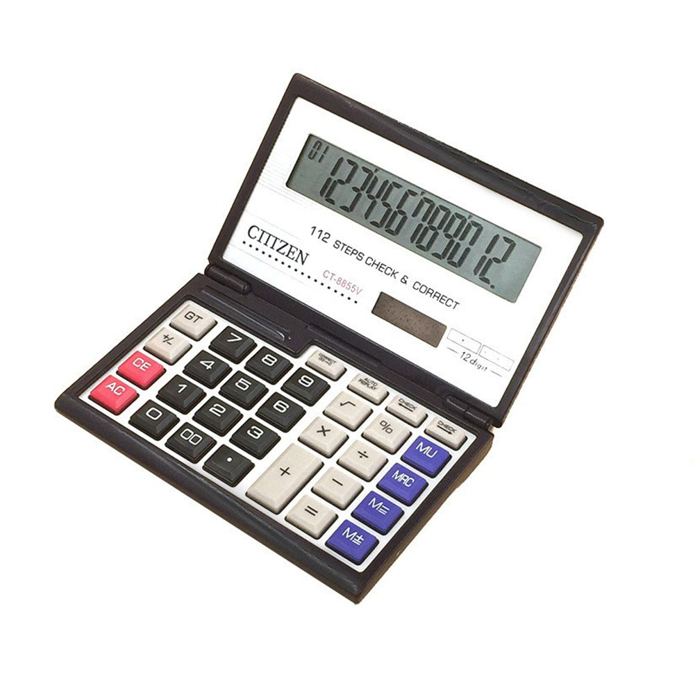 Studyset Calculator Financial 12 Digits Solar Battery Portable Foldable Desktop Calculator Office Supplies by Studyset (Image #1)