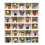 certainPL DIY 3D Stair Sticker Removable Potted Plant Pattern Step Sticker, Household Decoration Supplies, 6-Pack (18x100cm)