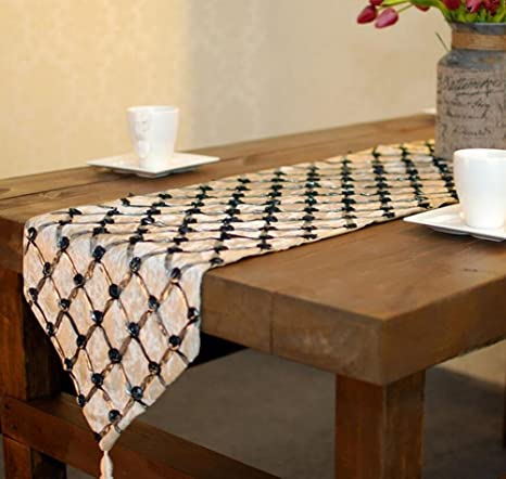 1PCS 33x200cm Fashion Modern Table Runner Flax Runner Jacquard Flannel Table  Cloth Table Runner Simple Personality