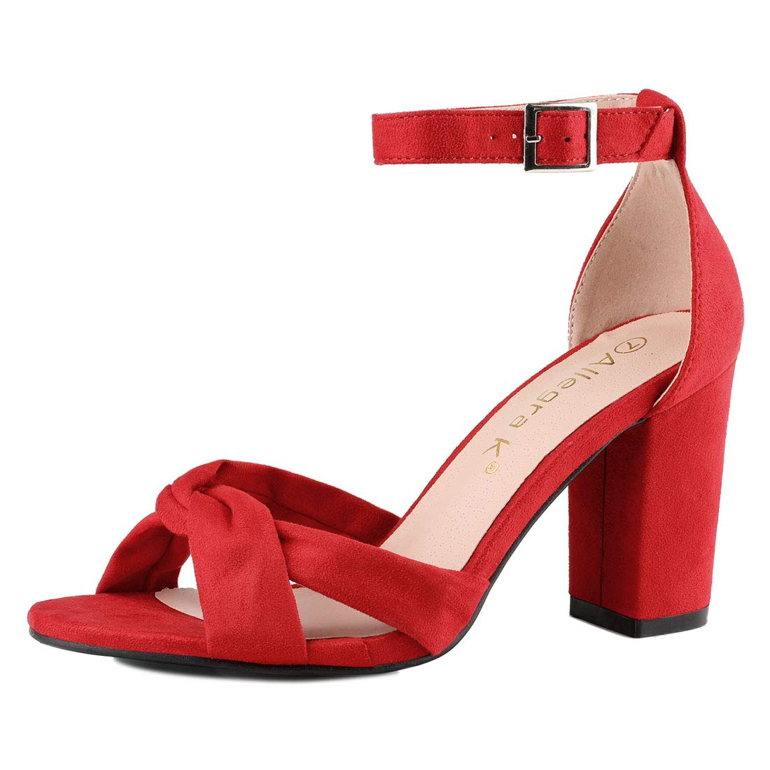 a8c1fb30c8b Allegra K Women s Ankle Strap GF Gift Sandals Red 7.5 UK Label Size 9.5 US