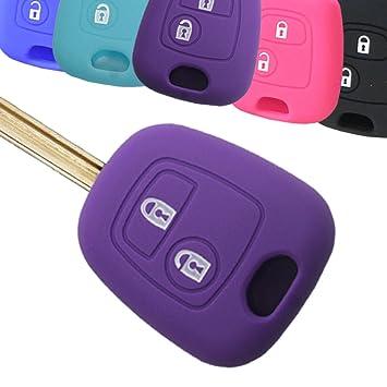 muchkey silicona llave del coche cubierta funda piel chaqueta ajuste para Citroen C1, C2, C3, C3 Pluriel C4 C5 C8 Saxo Xsara Berlingo Picasso 2 botón ...