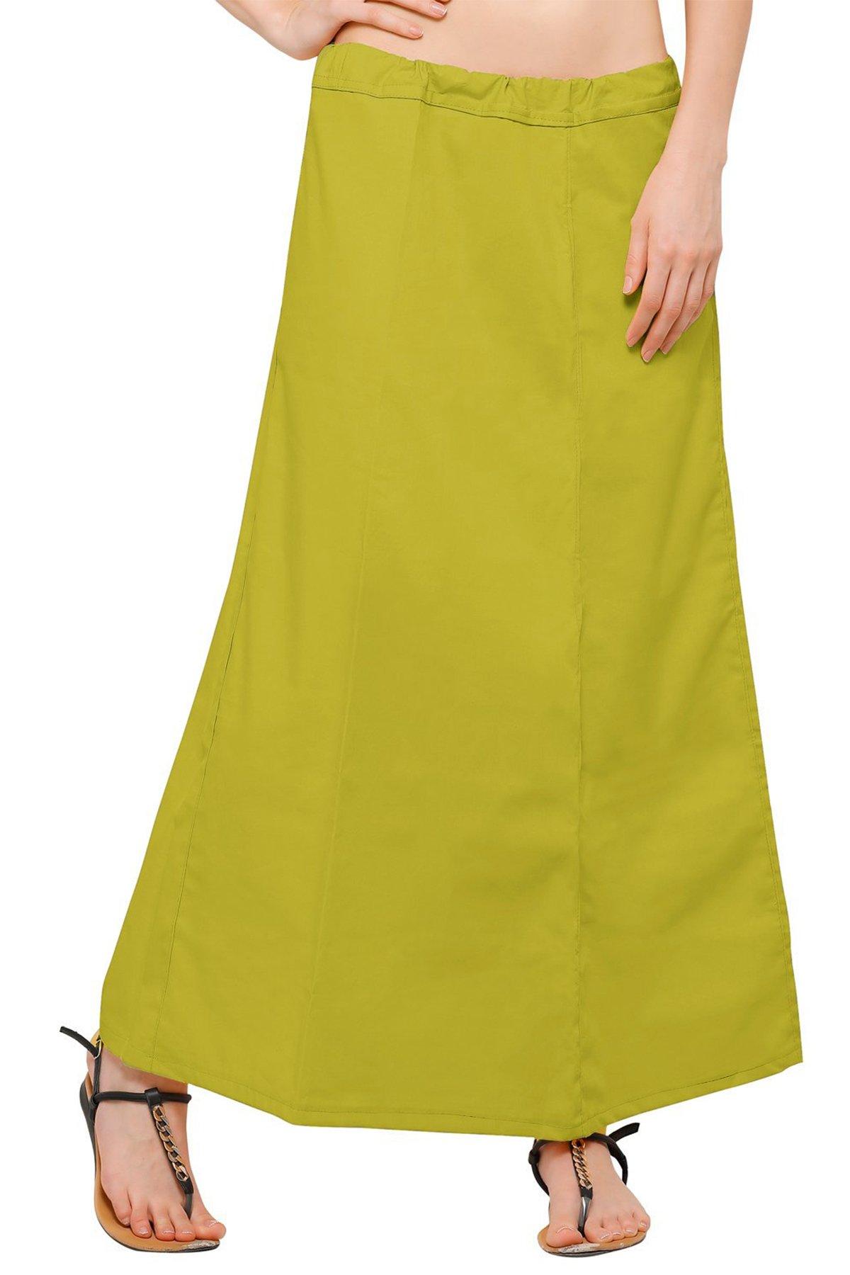 Chandrakala Women's Readymade Cotton Floor Length Sari Petticoat Underskirt Slips for Indian Sarees,Free Size (P104MEH4)