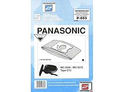 Distribuidora Ersa. 910653 - Bolsa aspirador papel panasonic mc3300 thogar 5 pz 910653