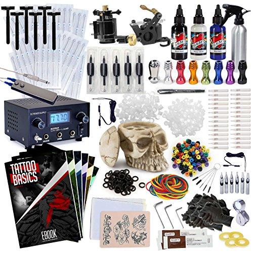 Henna Tattoo Kits For Sale: Rehab Ink Professional Tattoo Kit W/ 3 Ink Colors, Skull
