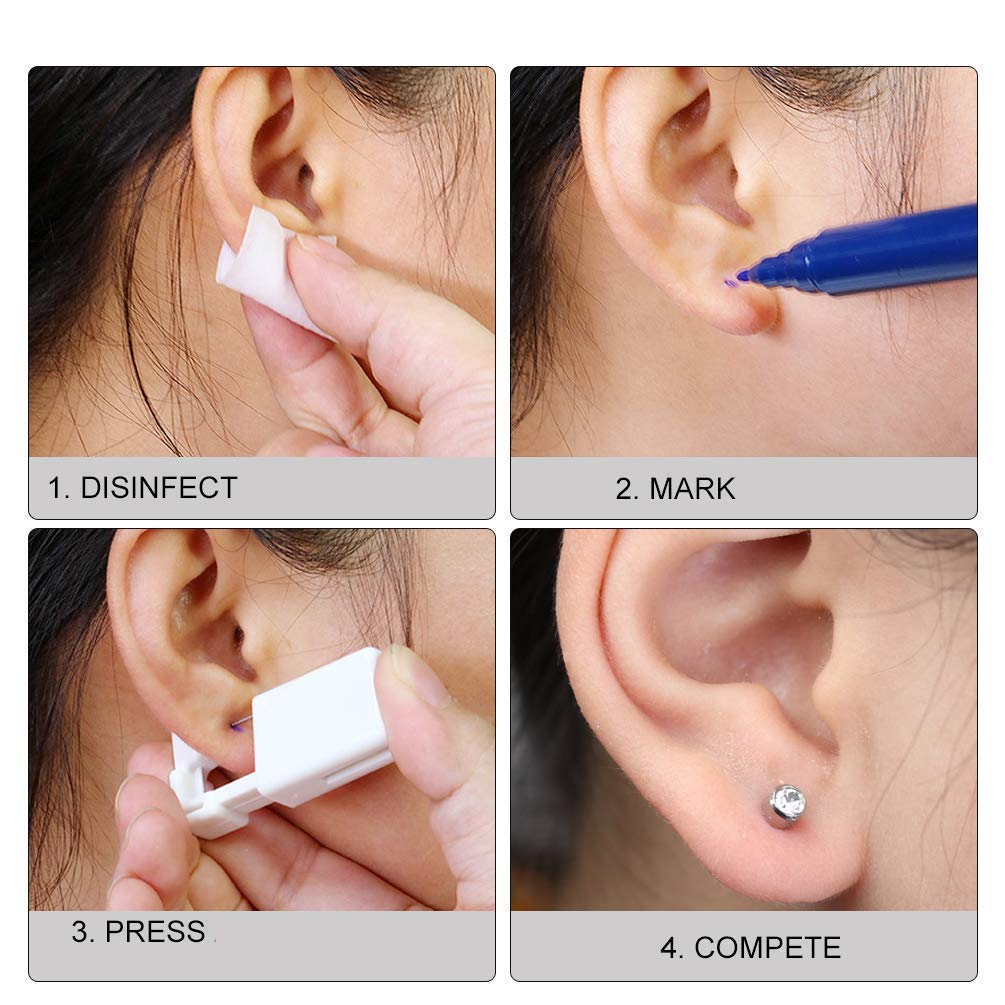 Amazon Com Disposable Sterile Body Ear Piercing Kit Tool Stud