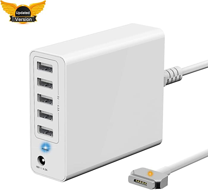 ?Updated Version? Wakeach 85W Wall Charger for MacBook Pro 15 inch Retina (Made Mid 2012-Mid 2015),Replacement for Magsafe 2 Power Adapter T-Tip mbp A1398 A1424 Portable Travel Power Supply