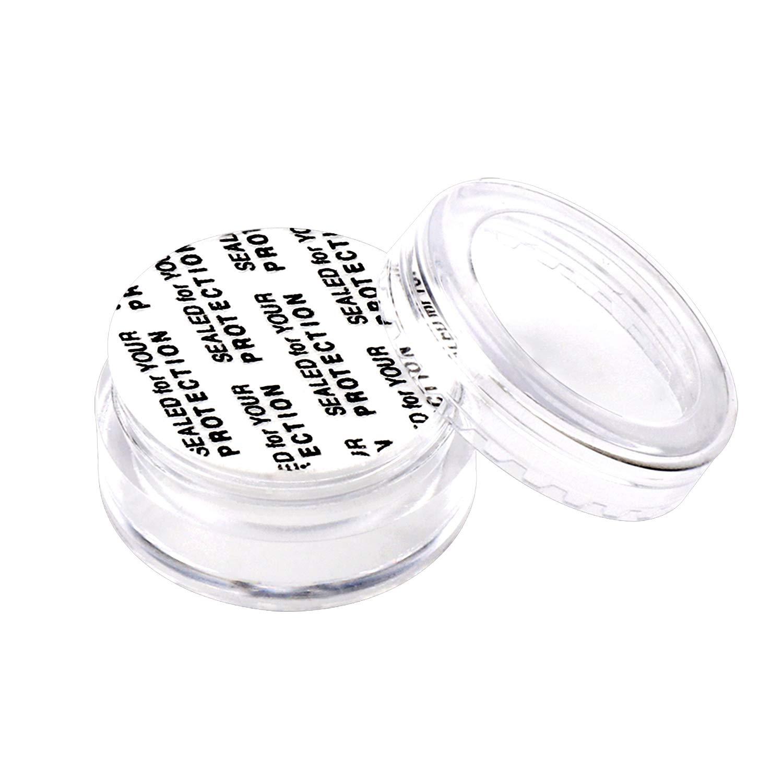 SumDirect 100Pcs 5g Recipientes de Cosm/éticos Vac/íos Transparentes Frascos de Muestra Botellas y 10Pcs Bolsas de Organza Transparentes Blancas
