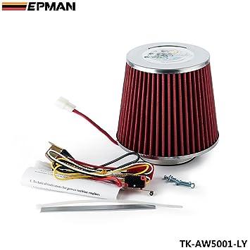 Amazon.es: Eléctrico Turbo Supercharger Kit filtro toma de aire para todo el coche (abanico de hierro) TK-AW5001-LY
