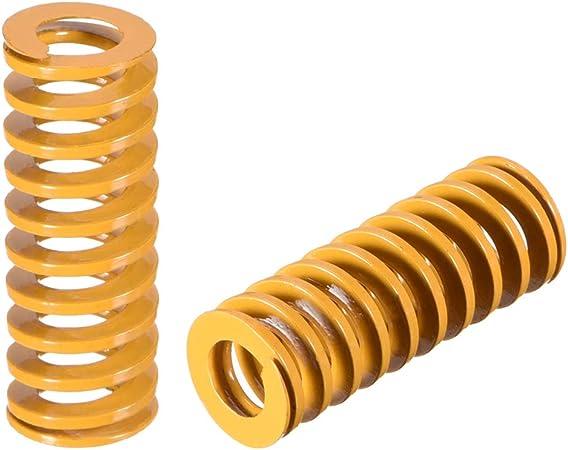 uxcell/® 8mm OD 20mm Long Spiral Stamping Light Load Compression Mould Die Spring 10Pcs