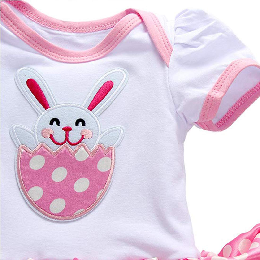 Fairy Baby Newborn Baby Girl Easter Dress Cotton 3pcs My 1st Easter Outfit Bunny Eggs Romper Bodysuit Tutu Skirt Set