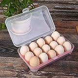 GuiXinWeiHeng 3pcs Portable egg storage box storage box kitchen refrigerator crisper(color random)