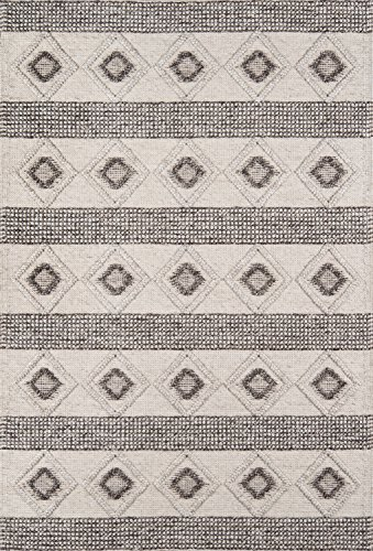 (Momeni ANDESAND-6BGE5070 Andes Wool and Viscose Area Rug, 5' X 7',)