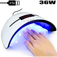 LED UV Lamps for Gel Nail Polish Nail Dryer Curing Lamp with 3 Timers Auto Sensor LED Digital Display USB Plug Carry Convenient