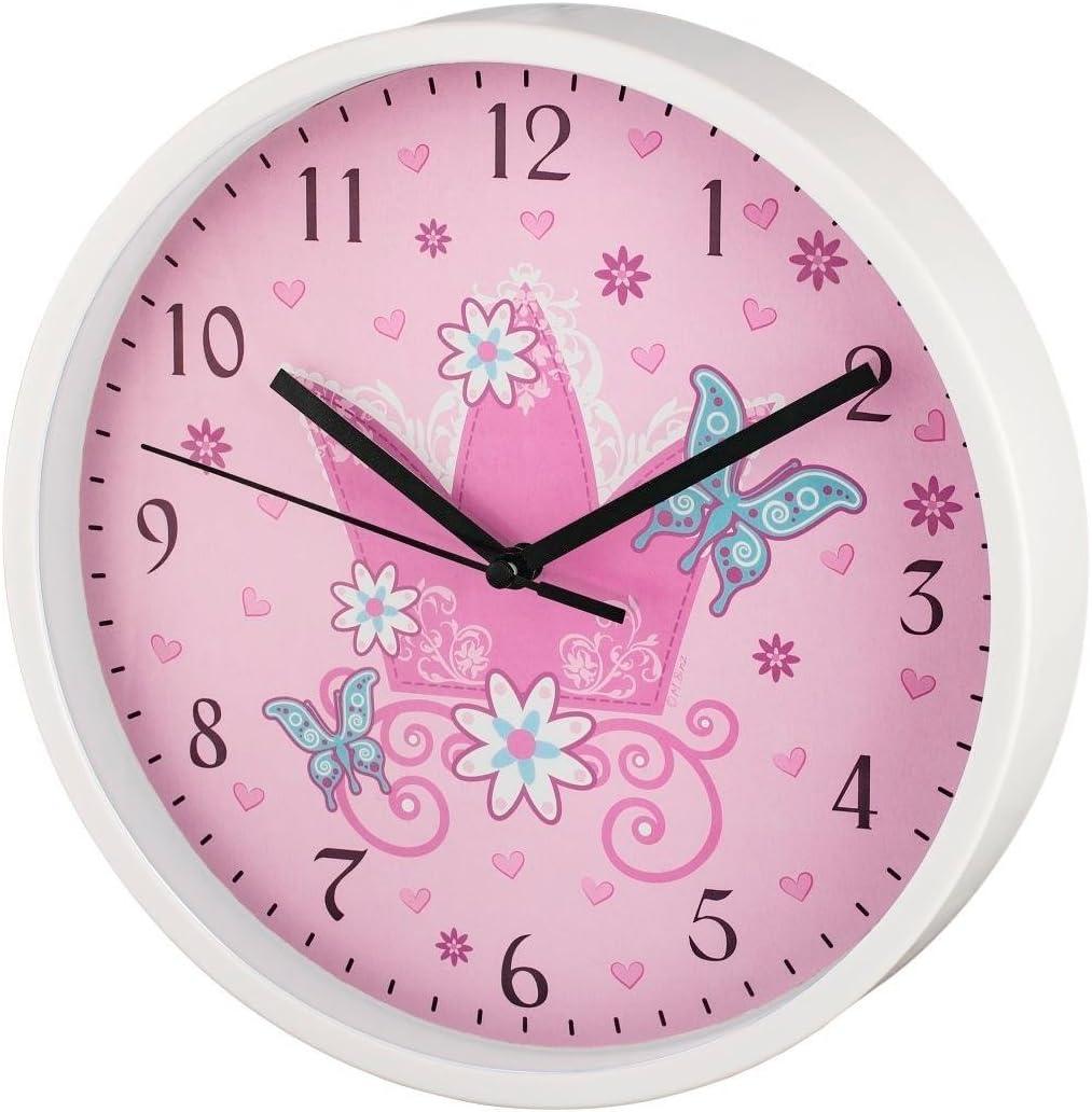 Hama Crown Quartz Wall Clock Círculo Multicolor - Reloj de Pared (AA, Multicolor, De plástico, Vidrio, 225 mm, 40 mm)