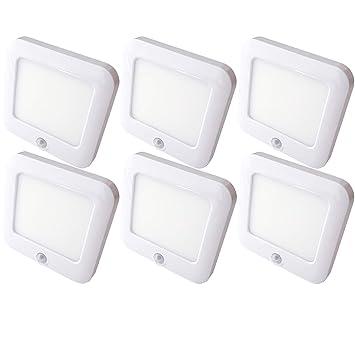 6 focos LED magnéticos recargables y detector de movimiento automático PIR – armario de cocina bajo