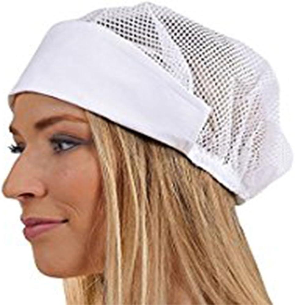 Cuffia bianca da lavoro cappello donna Misura unica in cotone