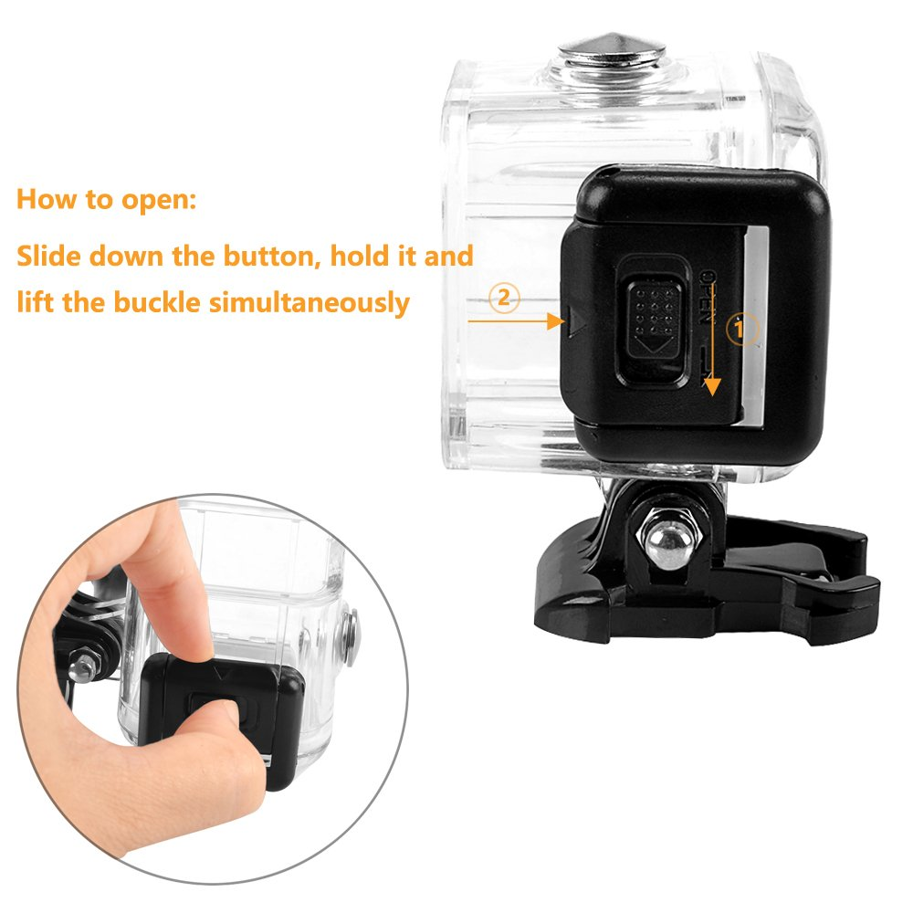 MyArmor 45m Underwater Waterproof Diving Housing Replacement Shell Case with Bracket Accessories for Gopro Hero 4/5 Session Camera