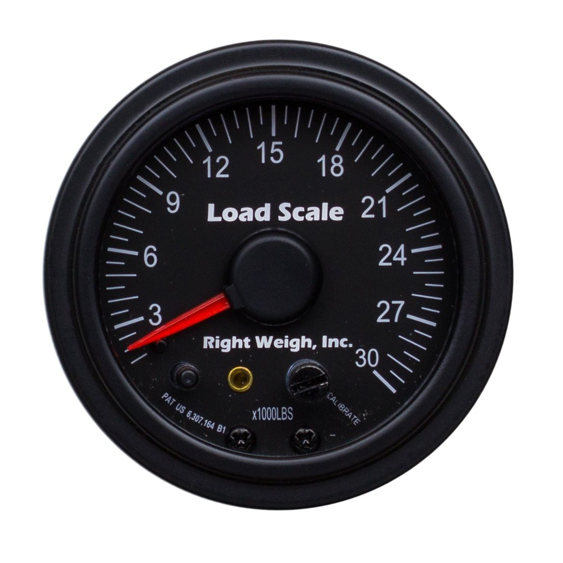 510-30-B Interior Analog Onboard Load Scale - for Single Axle Air Suspensions with One Height Control Valve - 7 Color LED by Right Weigh Load Scales