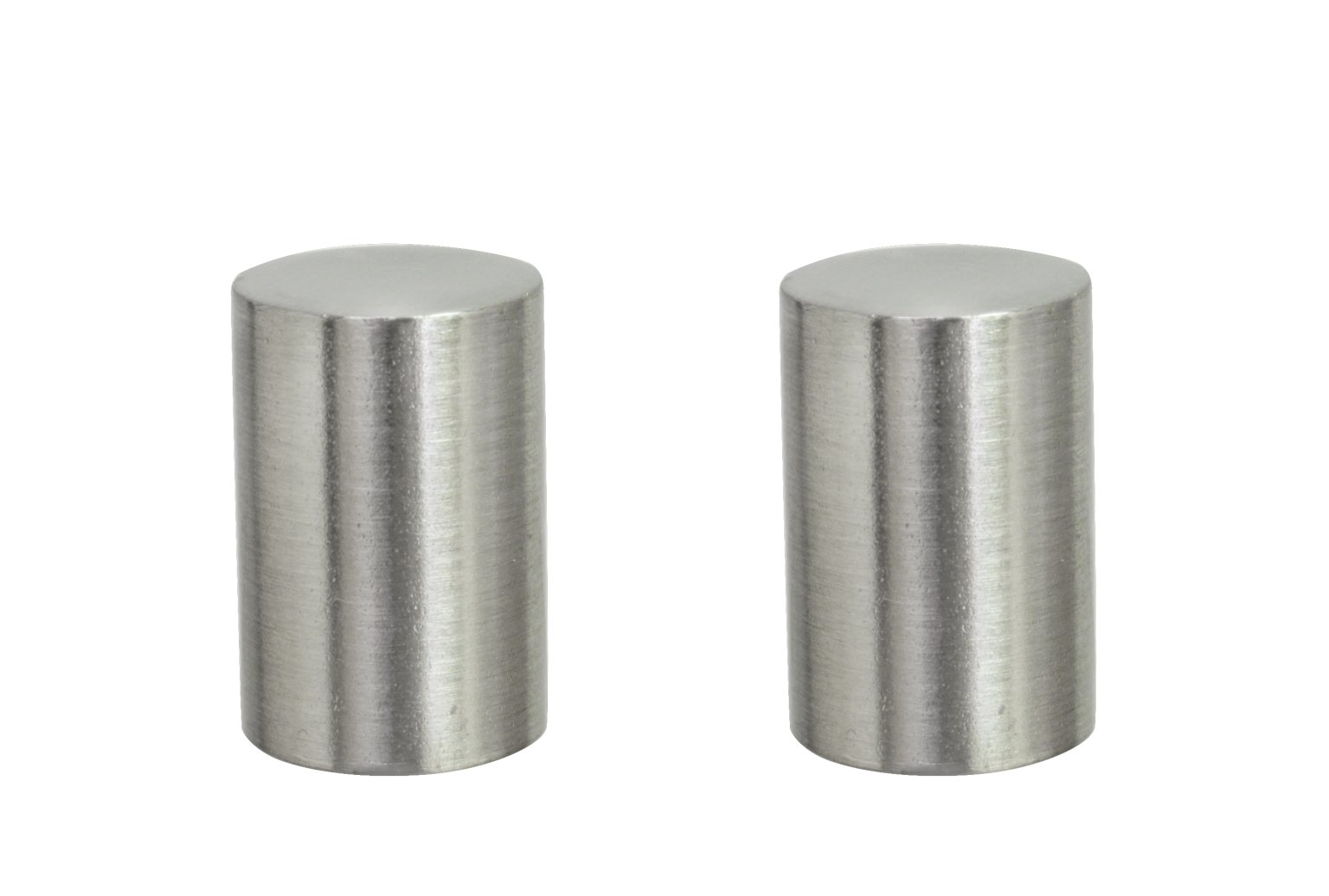 Aspen Creative 24019-22 Steel Lamp Finial Finish, 1 1/4'' Tall (2), 2 Pack, Brushed Nickel