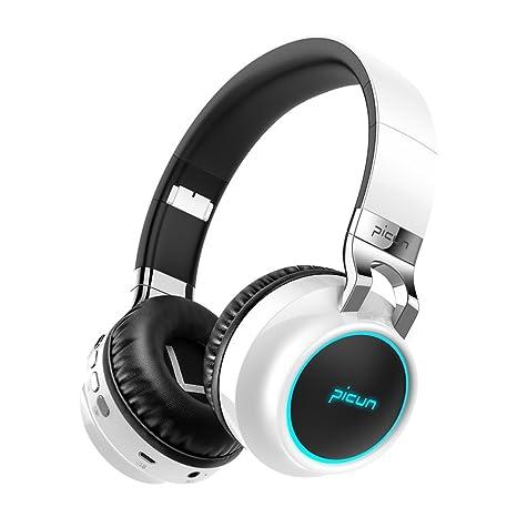 Auriculares Bluetooth con cancelación de ruido, auriculares inalámbricos plegables Hi-Fi estéreo con micrófono