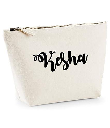 Kesha nombre personalizado lona de algodón bolsa de accesorios de ...