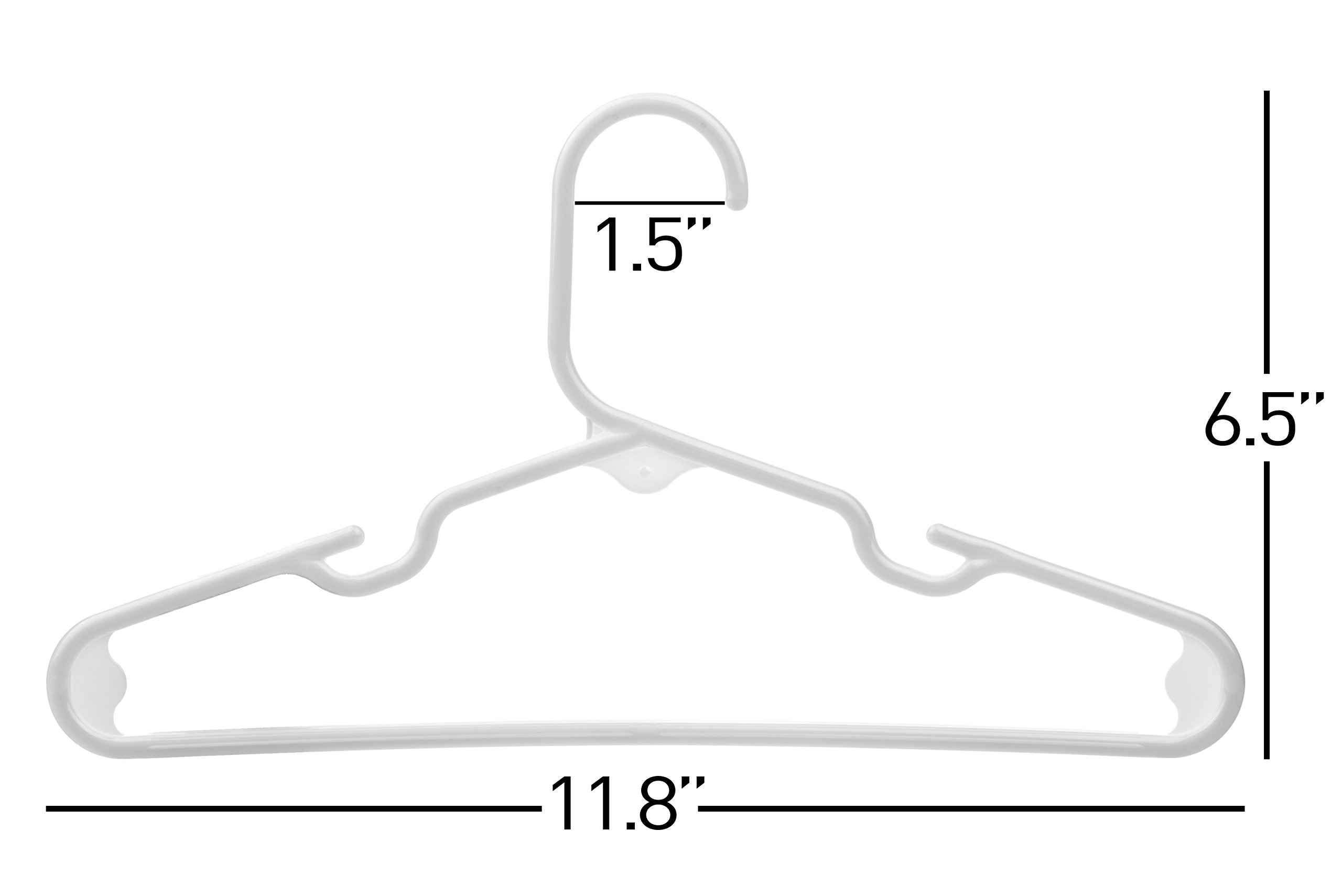 Neaties USA Made Children's Small White Plastic Hangers, 60pk by Neaties (Image #2)
