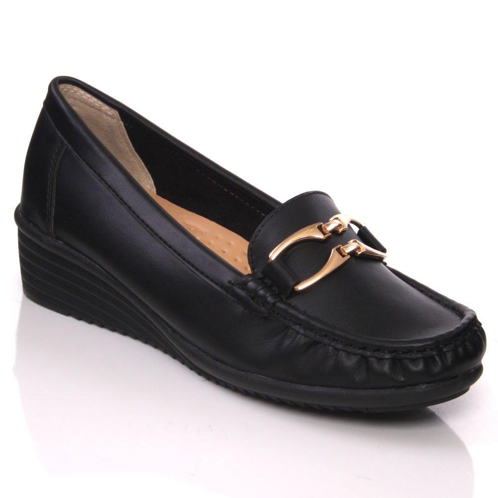 Unze Jose Womens Classic Casual Moccasin Loafer Shoes 9U546-6