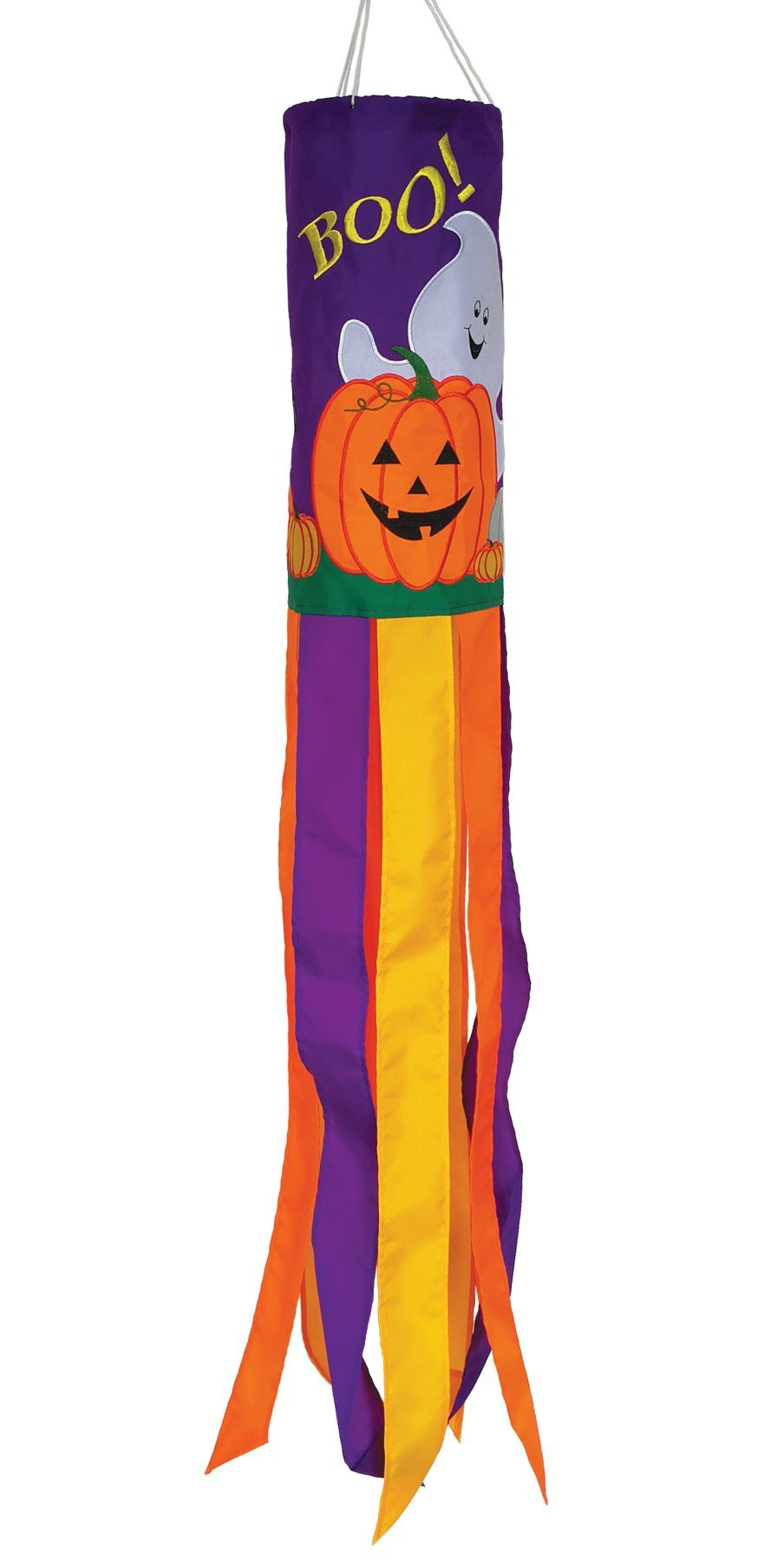 In the Breeze 5056 Holiday Windsock, 40-Inch, Boo Halloween