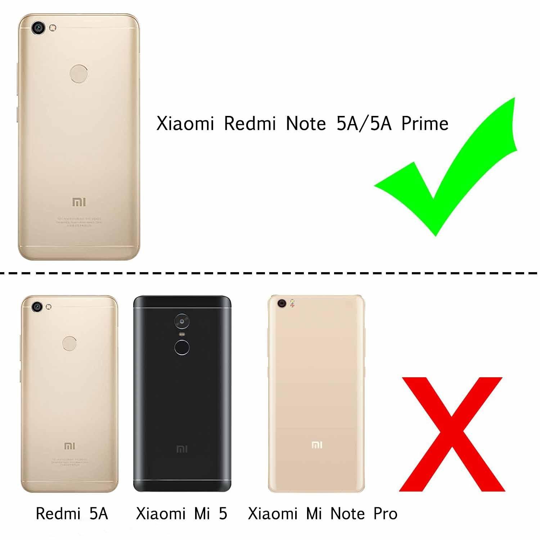 LeYi Funda Xiaomi Redmi Note 5a Prime/Note 5a Silicona Purpurina Carcasa con HD Protectores de Pantalla,Transparente Cristal Bumper Fundas Case Cover para ...