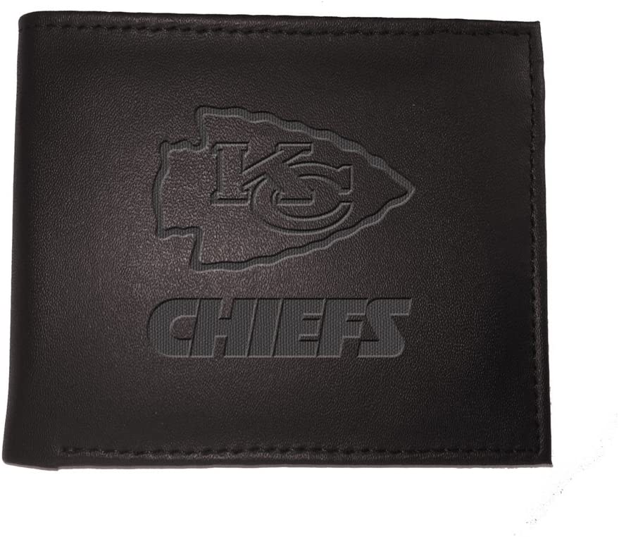 Team Sports America NFL Kansas City Chiefs 7WLTB3815Wallet Kansas City Chiefs Bi-Fold Black