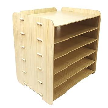 Ablageboxen Holz Lokauf 6 Schicht Briefablage Ablagesystem Buro