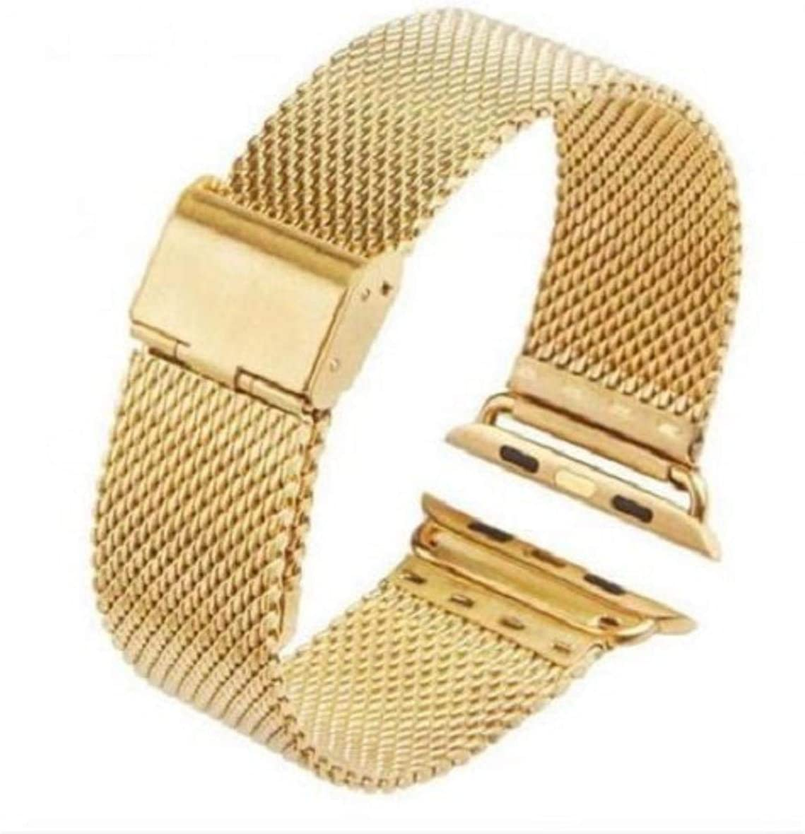 iPM Stainless Steel Mesh Milanese Loop Band for Apple Watch 38mm - Gold