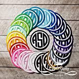 Monogram Patch Iron-on or Sew-on Applique Embroidered Patch for Uniforms, Backpacks, Christmas Stockings, Bridal, Wedding, Luggage