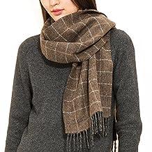 Comme La Vie Men and Women Unisex 100% Pure Wool Scarf Shawl Plaid Patten
