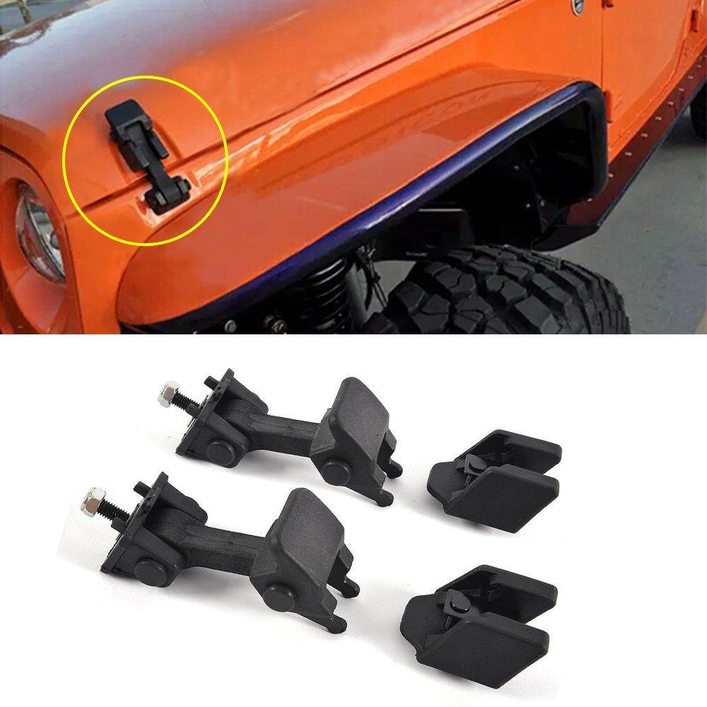 Jcsportline Hood Latch Rubber Catch Release Kit( 5.93.93.5 inch/12.9 oz) fits Jeep Wrangler TJ 1997-2006