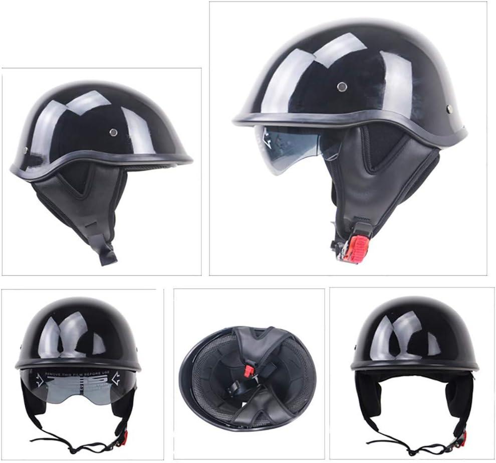 Motorcycle Helmet Retro Harley Half Helmet DOT//ECE Certified Unisex Jet Helmet Half Helmet Cruiser Chopper Open Helmet