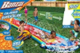 Banzai Colossus Super Slide Water Inflatable Air Spring Summer Body Board 25 Ft Backyard Fun Slick Tech Toy