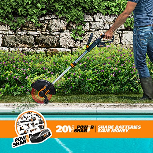 Worx WG163.9 20V Cordless Grass Trimmer/Edger with Command Feed, 12'' TOOL ONLY by Worx (Image #4)