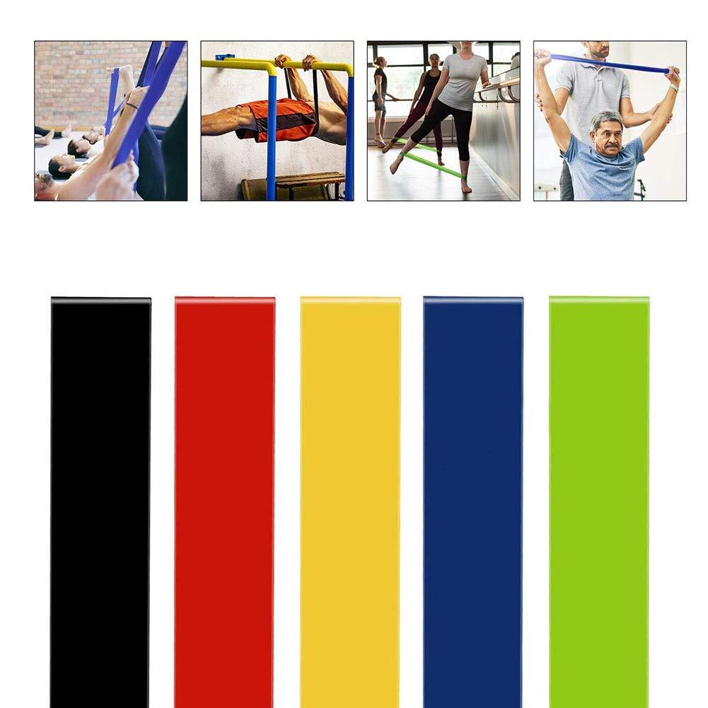 Bande de Resistance Set Yompz Bande Elastique Fitness, Gym Entra/înement /Équipement dExercices pour Musculation Pilates Squat Sport Crossfit R/é/éducation Physique et Motrice pour Yoga Lot de 5