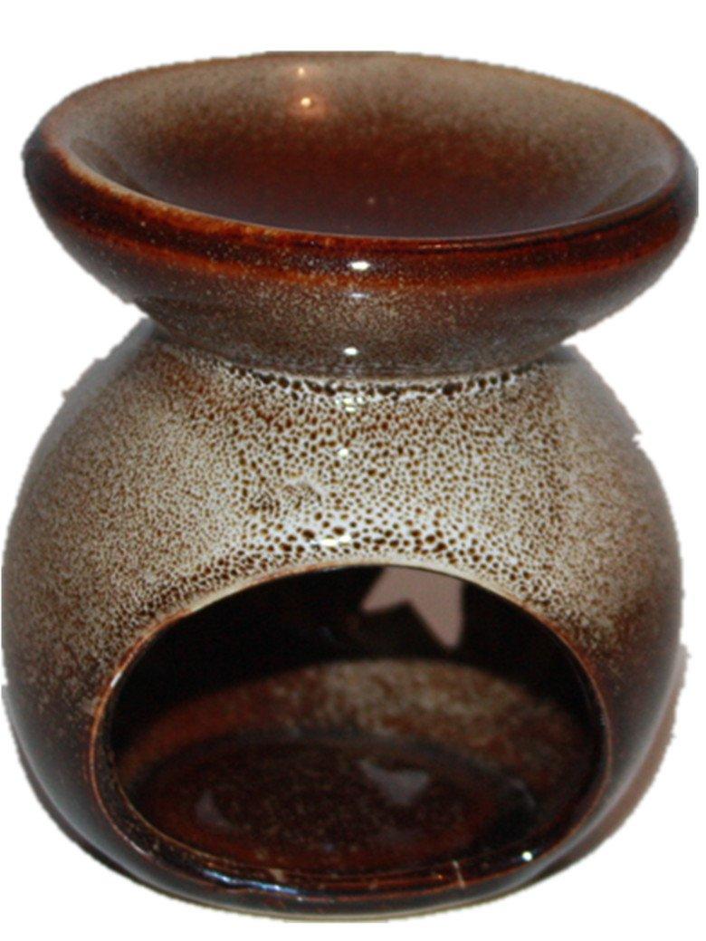 London Boutique Set Ceramic Oil Burner Wax Melts Warmer (Beige)