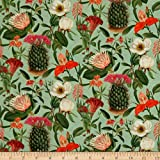 STOF France Digital French Fantaisy Rebutia Vert Fabric by the Yard
