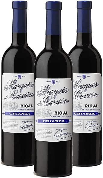 Marqués de Carrión Crianza Vino Tinto D.O Rioja, Alcohol 13.5% - 3 Botellas x 750 ml - Total : 2250 ml: Amazon.es: Alimentación y bebidas