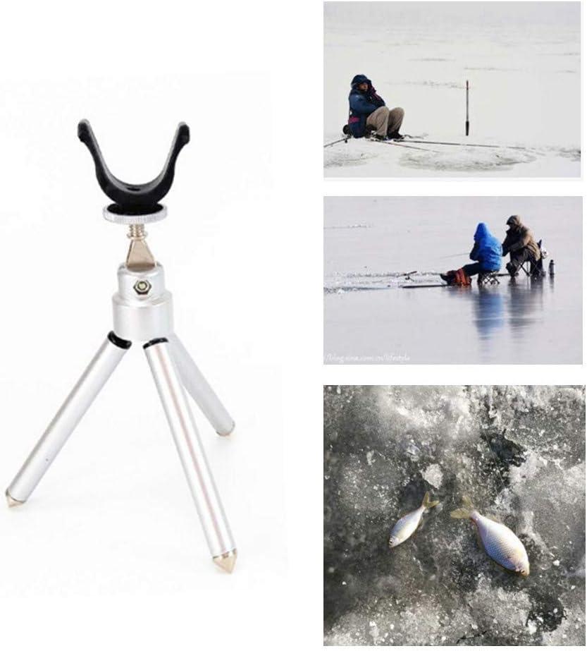 Balight Folding Ice Fishing Rod Holder Small Triangle Bracket Winter Ice Fishing Pole Fishing Tackle Unique Design
