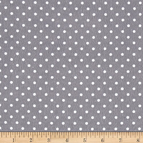 Timeless Treasures Flannel Dot Pewter Fabric by The Yard