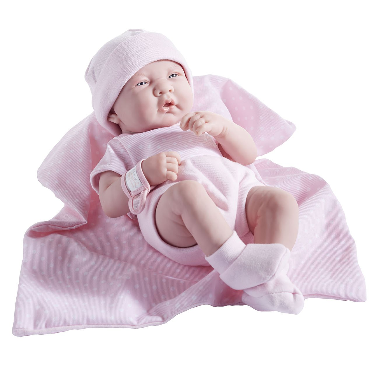 Blue JC Toys Berenguer Boutique La Newborn 14-Inch Life-Like Real Boy Doll 9 Piece Gift Set