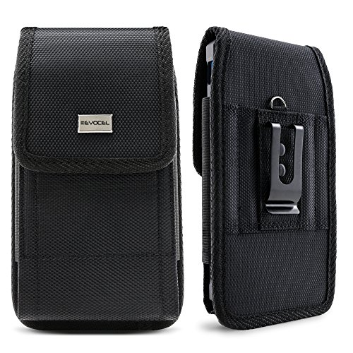 Evocel [Urban Pouch] Tactical Carrier with [Belt Loop & Holster] (6.1 in x 3.1 in x 0.37 in) Fits Galaxy J7, Galaxy S7/ S6/ S5 Active, LG K20 Plus, LG Stylo 3, HTC U11, T-Mobile REVVL, More, Large (Phone Pouch For Droid Turbo)