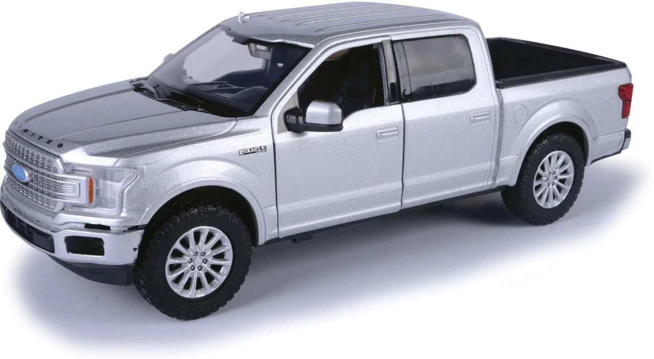 2019 Ford F150 Limited Crew Cab Pickup Silver 1:24 Model Motormax 79364SIL*